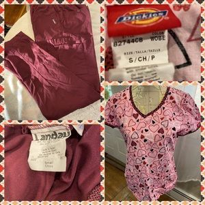 Like New Dickies Scrub Top w/Matching Scrub Pants
